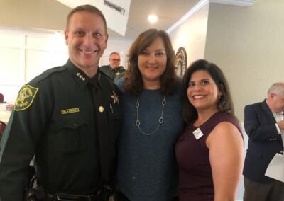 Attendees at the Parkland Chamber of Commerce April Lunch with Broward Sheriff's Office
